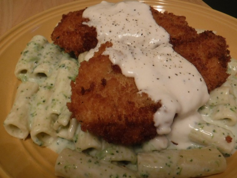 crispy chicken alfredo